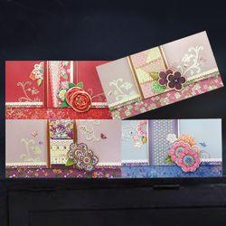 자수 꽃 용돈봉투 FB1013-2356 (4종 한세트)