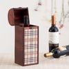엔틱 체크 와인 가방