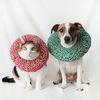 고양이 강아지 당초 무늬 도넛 넥카라 깔대기 튜브 Miyopet