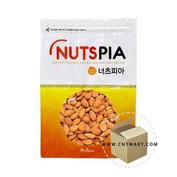 넛츠피아 볶은아몬드 완태 1kg 1박스(10개)하루견과