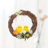 봄 풍경 병아리 리스(10cm-브라운)