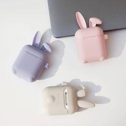 (ANIPODS) 토끼귀 에어팟 실리콘 케이스 (키링미포함)
