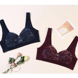 Two-tone Color Lace 겨드랑이 & 등살 보정 기능성 브라