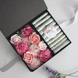 비누꽃 카네이션 용돈박스(3color) - 피치&핑크