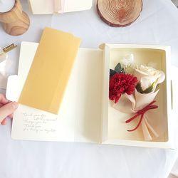 특별한 선물 카네이션 패키지-비누꽃 카네이션북 (레드)