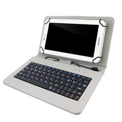 TCB 태블릿PC 케이스 키보드 7-8인치 그레이