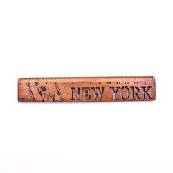 빈티지 뉴욕 우드 막대자