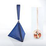 [디즈니 가죽 참 5종 택1] 피라미드 가방(Blue) F