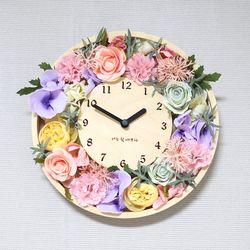 플라워(꽃리스)벽시계