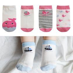 고래 친구들 유아양말 4종세트(1-8세) 203830