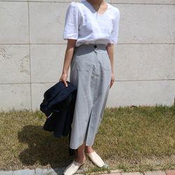 Baguette linen long skirt(린넨100)
