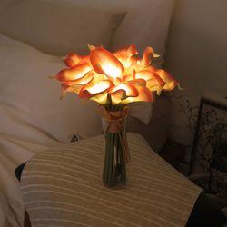 피치 카라 부케 LED 무드등 (뉴배터리)