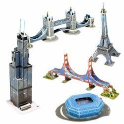[스콜라스]세계 유명 미니건축물13D종이입체퍼즐