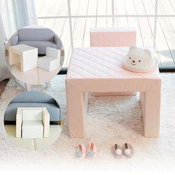 아도라하우스 퀄팅 유아동 소파+테이블