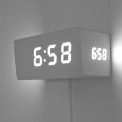 바나나 3면입체 슬라이트(Sli+te)디지털LED 벽시계.탁상시계멀티