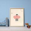 인테리어 디자인 일러스트 포스터 핑크트리 30x40cm
