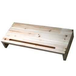 삼나무 원목 모니터받침대 1단 완성품발송