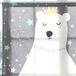 꿈꾸는 곰 북유럽 코튼 가리개커튼 125x110