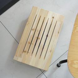 USB 선풍기 발받침대 (오크) 원목발판 발거치대