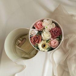 2단원형(소) pink mix 플라워용돈박스[현금홀더+쇼핑백]