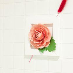 페이퍼플라워 핑크장미 만들기 DIY paper flower pink Rose