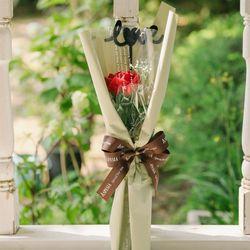 세르베 LOVE 한송이 비누꽃다발-로즈데이성년의날여자친구선물