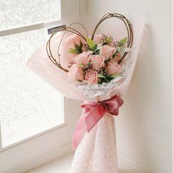 엘레벳시아 하트장미 비누꽃다발-로즈데이성년의날여자친구선물