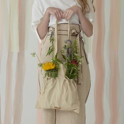 DUSK string bag - Beige