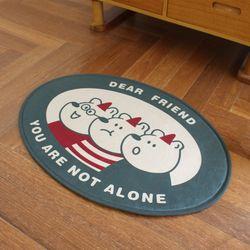 소프트 발매트 - 프렌즈 (현관 욕실 러그 논슬립 주방)