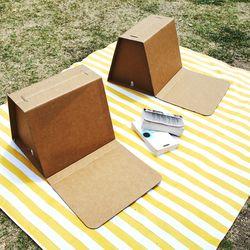 [1+1/무료배송] 종이등받이 의자 채셔