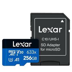 렉사 공식판매원 microSD카드 633배속 UHS- I급 256GB