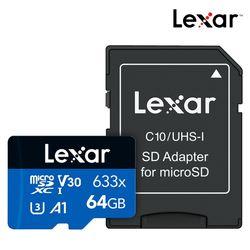 렉사 공식판매원 microSD카드 633배속 UHS- I급 64GB