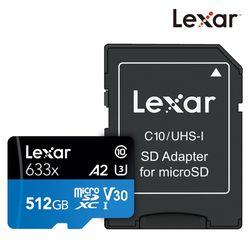 렉사 공식판매원 microSD카드 633배속 UHS- I급 512GB