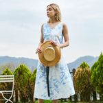 COTTON TIEDYEING ONE-PIECE BLUE