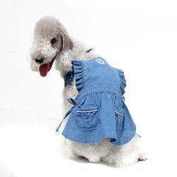 INDIGO APRON DRESS
