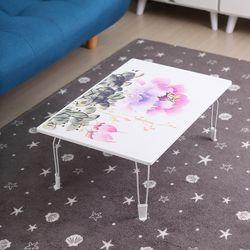 리빙코디 동양화 테이블 720 밥상 좌식 접이식 노트북