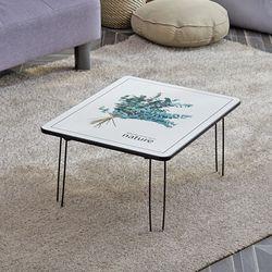 리빙코디 액자 테이블 600 밥상 좌식 접이식 책상