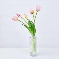 [브라이덜샤워 파티용품  조화꽃] 연핑크 튤립