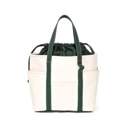 Cafe Tote Canvas (Ecru Green)