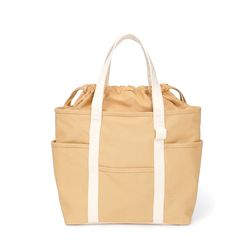 Cafe Tote Canvas (Tan Ecru)