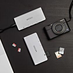 위키오 USB허브 C타입 8 in 1 케이블수납형