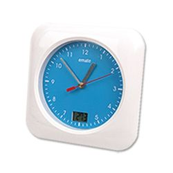emate 욕실 방수 시계(무소음)-화이트