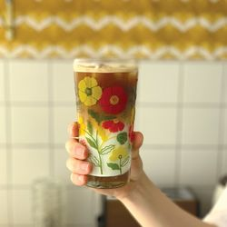 커먼키친 with Rena Retro Summer flower Glass