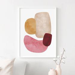 미뇽 추상화 그림 인테리어 액자 A3 포스터