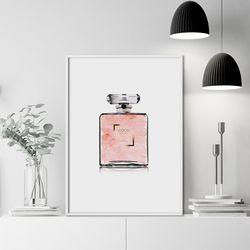 핑크향수 패션 그림 인테리어 액자 A3 포스터