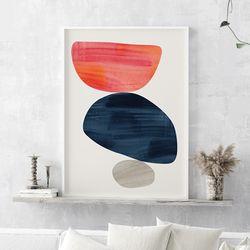 륀느 추상화 그림 인테리어 액자 A3 포스터