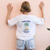 야자수 그래픽 자수 화이트 티셔츠
