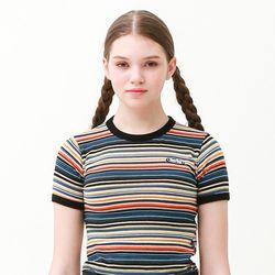 [무료배송] Stripe ringer summer t-shirts blue