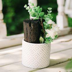 청정구역 순백의 꽃 숯화분-공기정화 미세먼지제거 습도조절