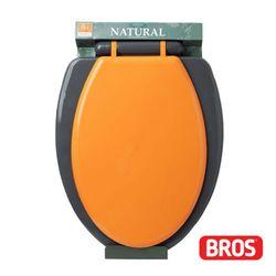 브로스 하드변기커버 변기뚜껑 중형 O형 오렌지